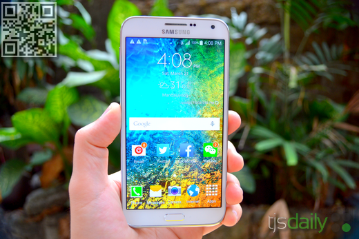 Samsung Galaxy E7 Review Front