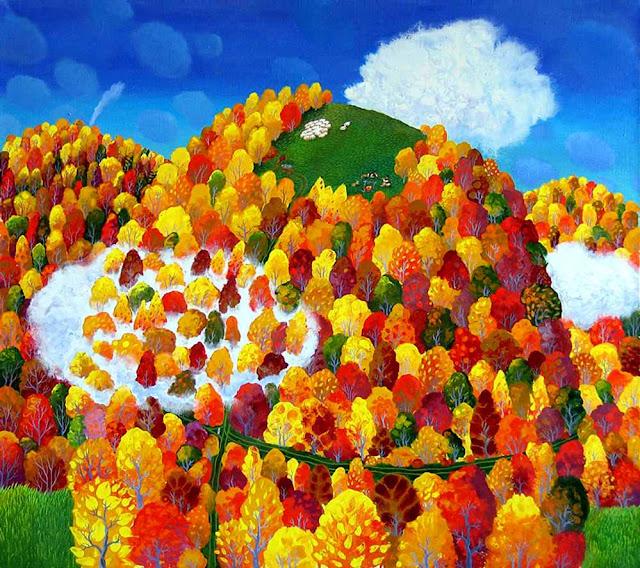 осень в карпатах О. Кваша