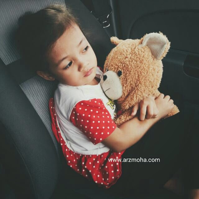 cik puteri, deman, bear, kids, kidsworld, vscocam, daughter,