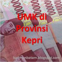 Upah Minimum (UMK) Kota Batam dan Kota/Kabupaten di Provinsi KEPRI