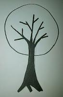 sketsa pohon