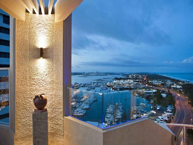 Penthouse balcony view