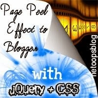 Learn How To Add Page Peel effect with jQuery & CSS to Blogger