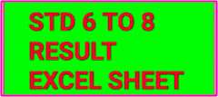RESULT SHEET TO 6 TO 8 STD GUJARAT EXCEL