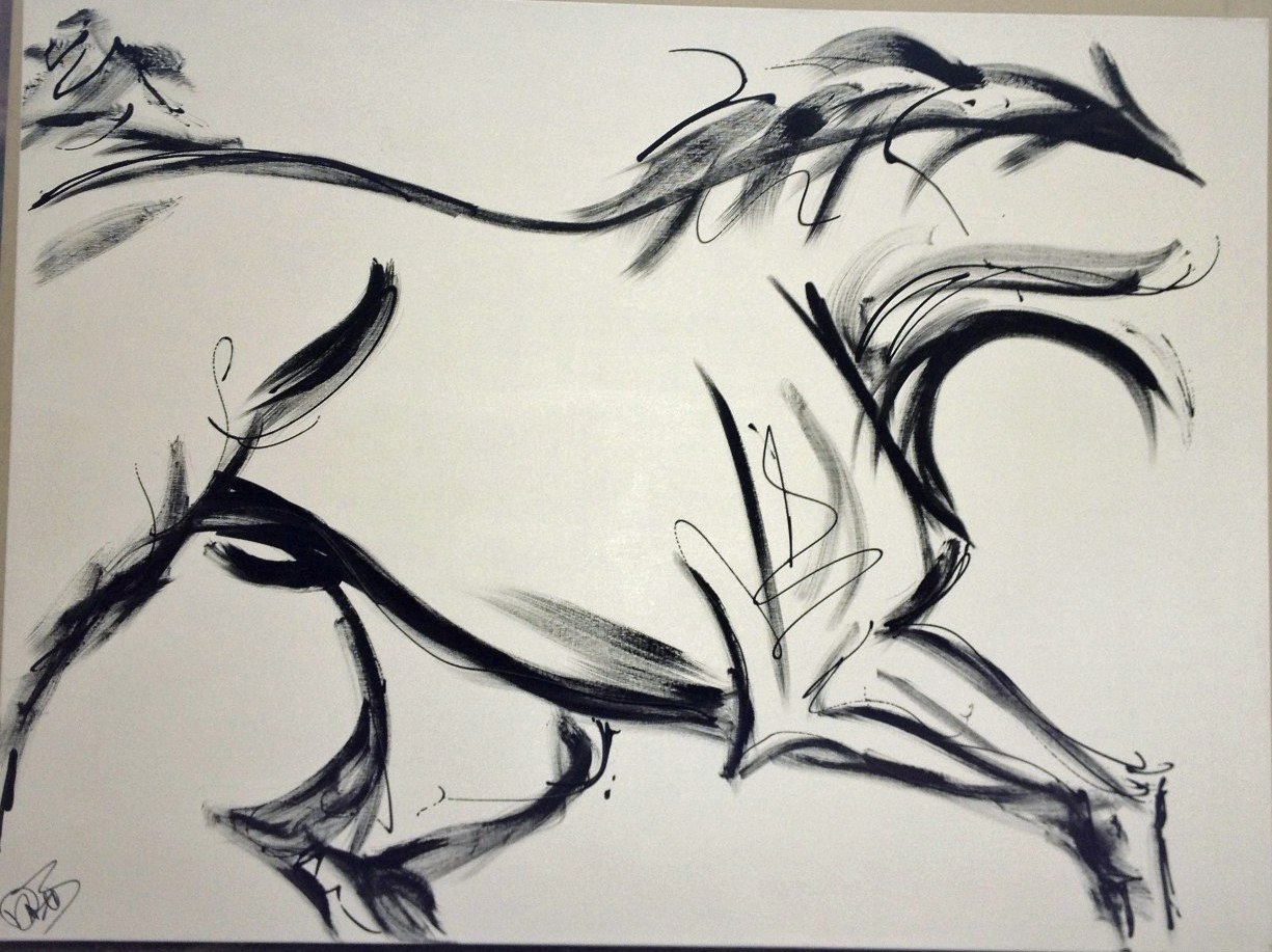 Equine modern art updates for the artist donna b