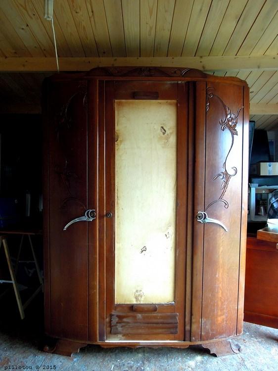 Ambiances bois patines armoire et chevet style romantique - Armoire style romantique ...