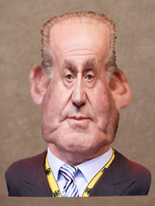 juan carlos I, juan carlos, rey, rey de espaa, caricatura, caricature, cartoon