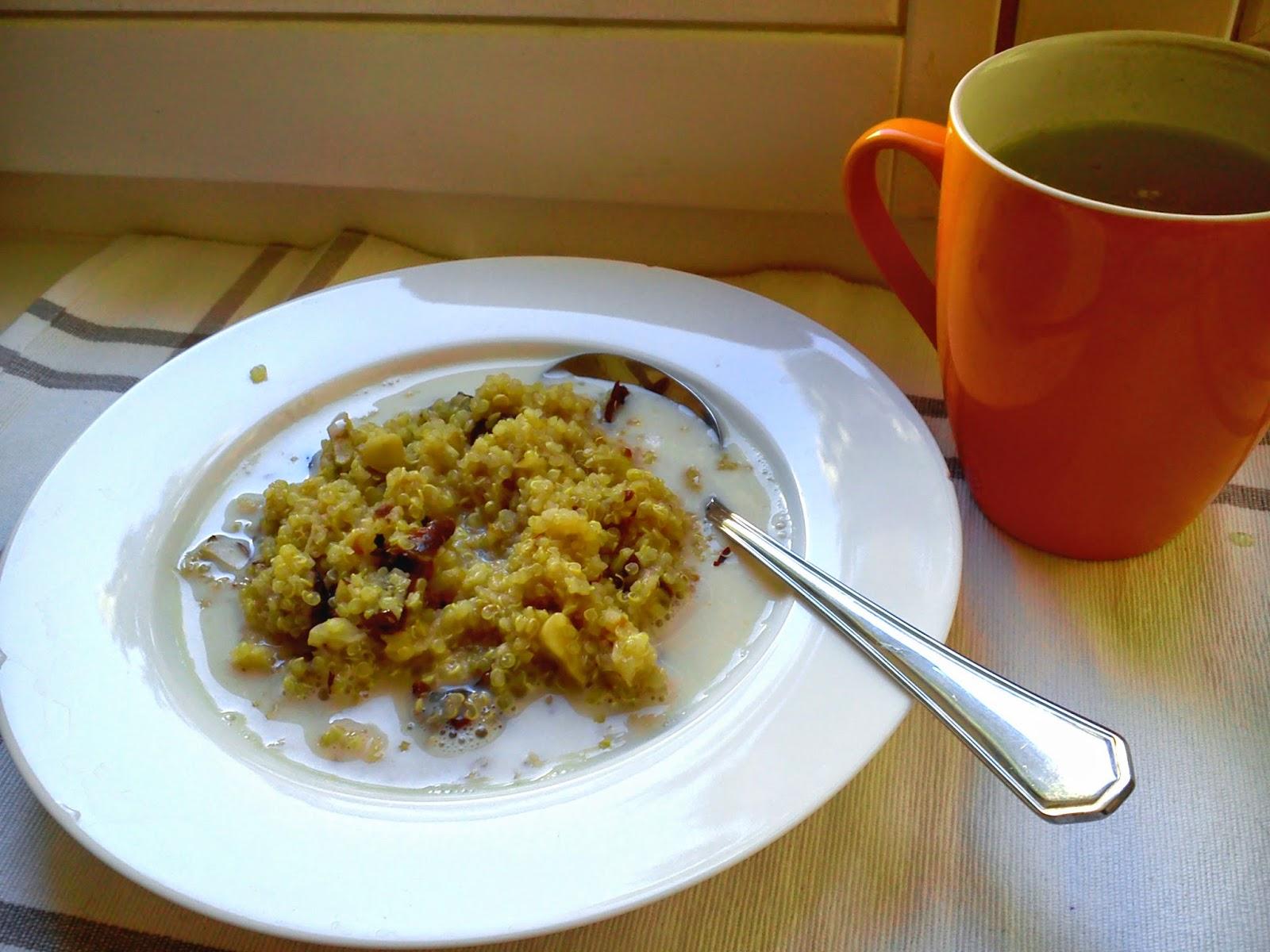 Reseptit - Kvinoa-puuro mantelimaidon kanssa.