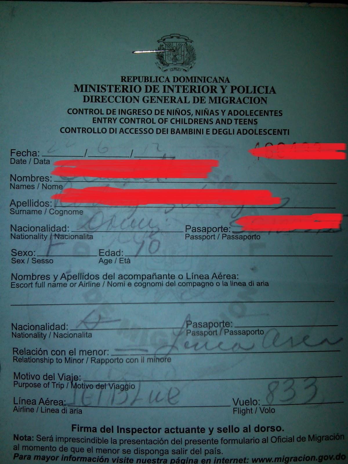 Paso a paso visa y residencia permiso para menores en for Ministerio del interior pasaporte telefono