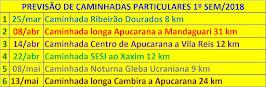 caminhadas municipais - APUCARANA-PR