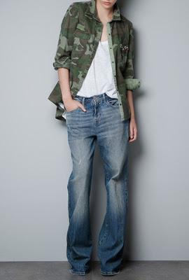 camisa camuflaje Zara mujer