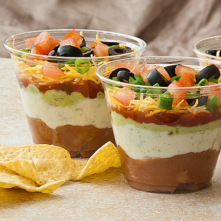 Seven Layer Taco Dip : An all time favorite, this mini appetizer is ...
