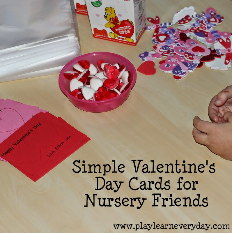 Simple Valentine S Day Cards For Nursery Friends Play And Learn