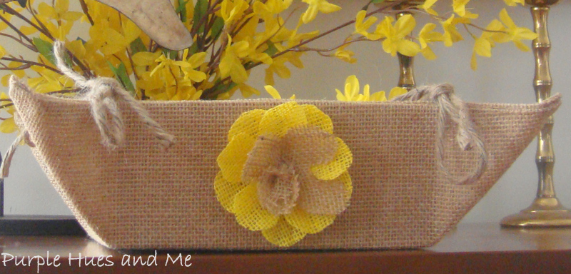 Burlap Fabric Basket