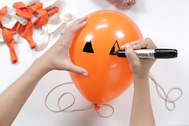 Jack-O'-Lantern - Decoração de Halloween com balões - PAP 02