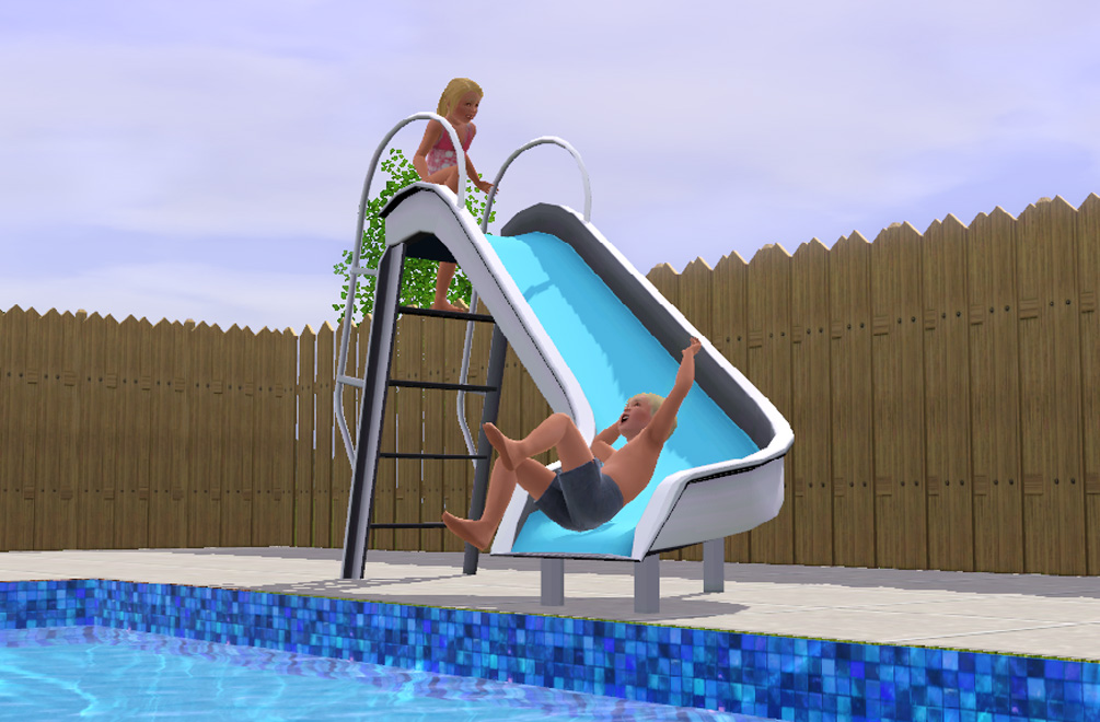 Tobog N De Piscina Los Sims 3 Mod Simsideas