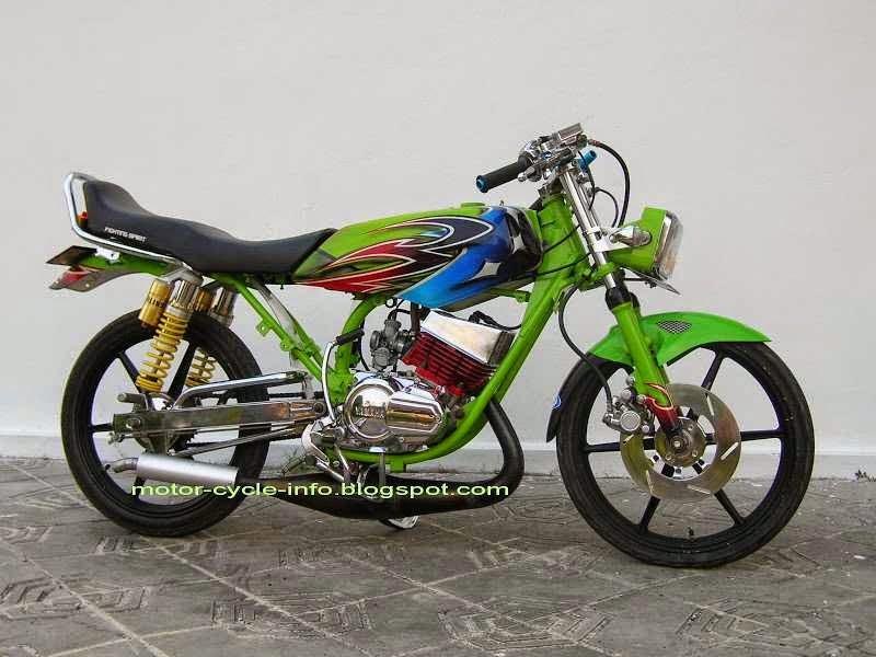 modifikasi motor rx king warna hijau  tahun ini