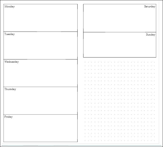 Reader Request Week On 2 Pages For Mtn Printable