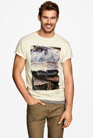 camiseta hombre verano H&M