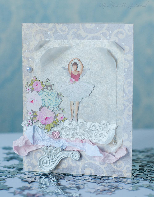 открытка театр, открытка балерина с крыльями, открытка тильда, тильда балерина