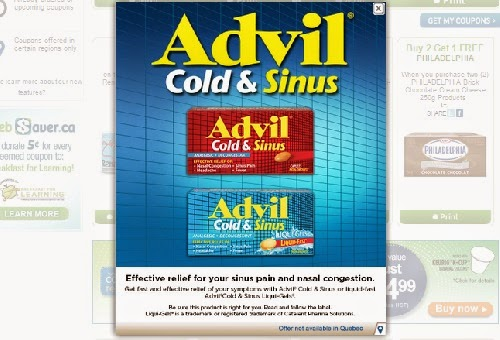 Websaver Advil Cold & Sinus $3 Off Coupon