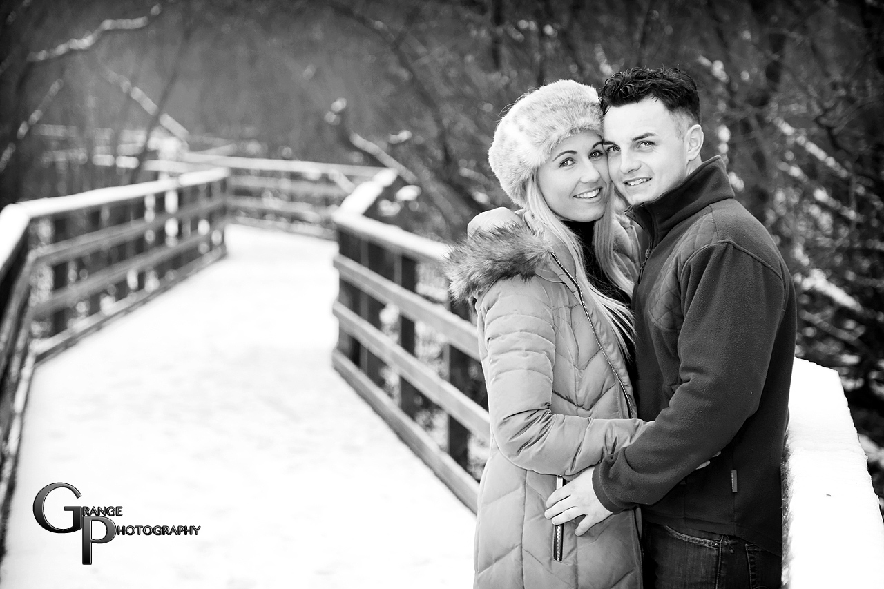 Grange Photography: A Beautiful Winter Pre-Wedding Shoot