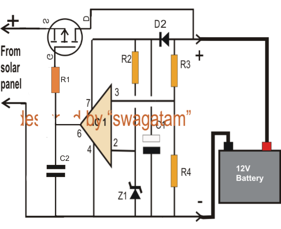 simple zero drop solar charger circuit circuit diagram centre
