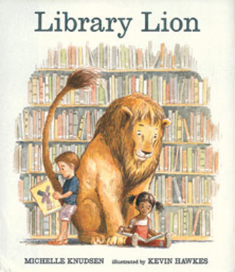 Library Lion by Michelle Knudson is a beautiful story about a library and a loving lion every toddler and up will enjoy.  Alohamora Open a Book http://www.alohamoraopenabook.blogspot.com/