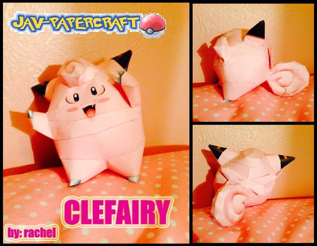 Clefairy Paper Model