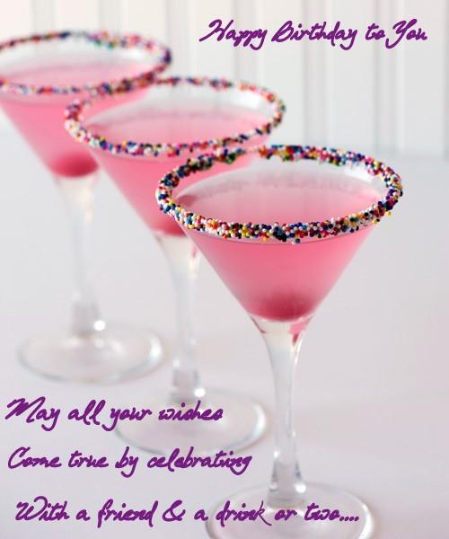 Happy Birthday drink