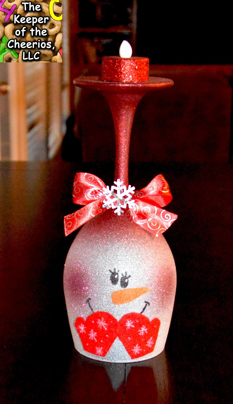 Snowman wine glass candle holder for Christmas painted wine glasses pinterest