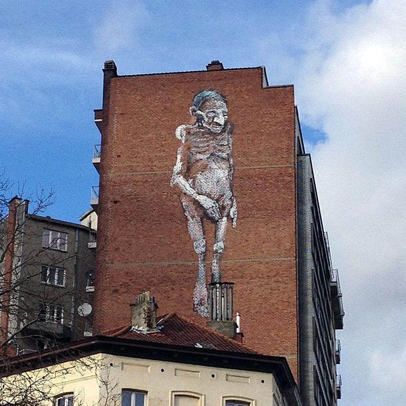 Bonom New Mural In Brussels Belgium Streetartnews