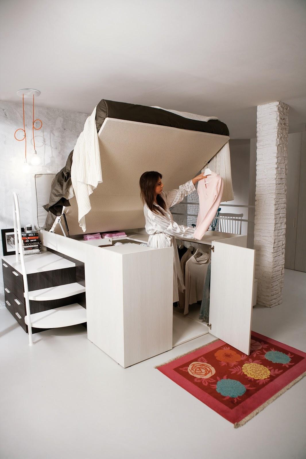 Arredamenti Ballabio Lissone: Container Il letto con l\'armadio sotto,