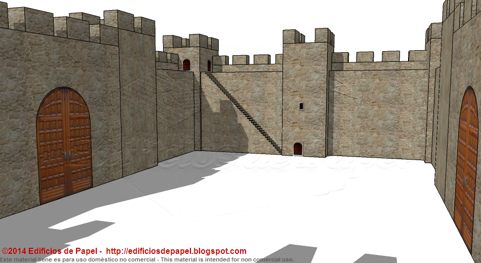 Paper model of a Medieval Fortification for your layour