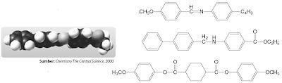 Struktur molekul kristal cair pada kolesterol benzoat