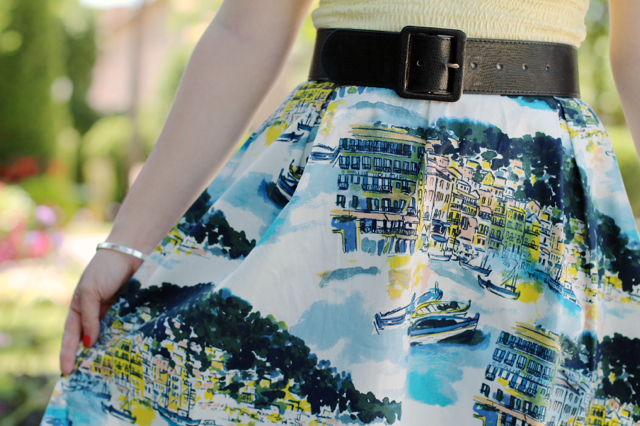 Asda scenic print full skirt