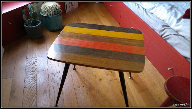 déco style loft 40m² meuble métier tiroir, table Etsy 70s, fauteuil club brocante