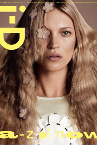 Kate Moss Covers i-D Magazine's 2013