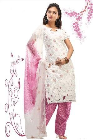 Pink-White-Salwar-Kameez