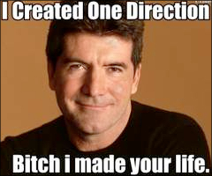 Simon Cowell Meme: I created One Direction