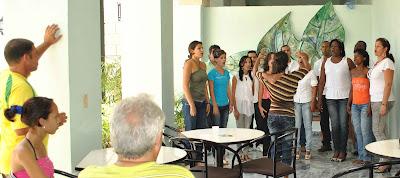 El coro Municipal en La Burundanga