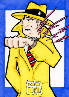 dick tracy, j(ay), sketch card