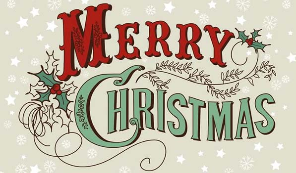merry christmas saying on the card