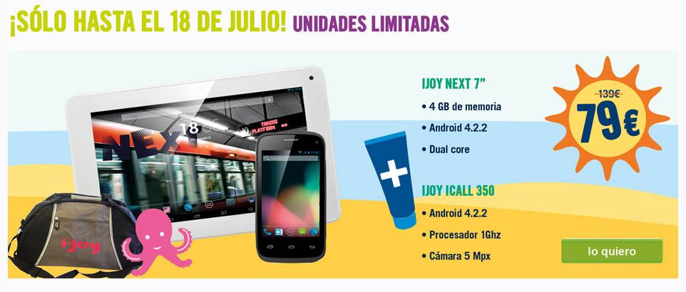Gran oferta, por tiempo limitado, de una tablet y un smartphone, por 79€, solo en la web de The Phone House.