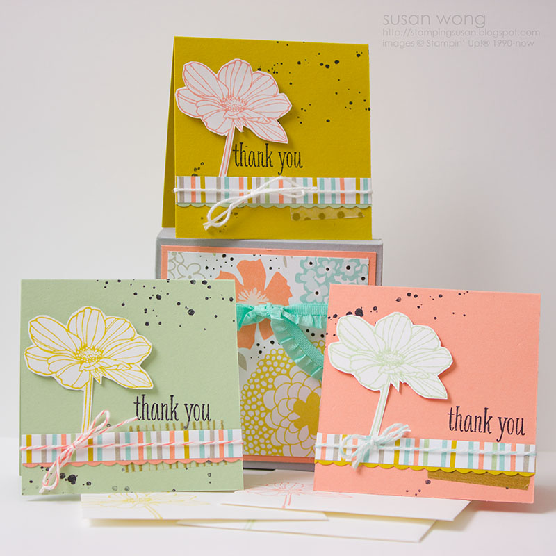 Susan Wong. Envelope Punch Board box and cards