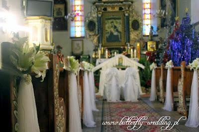 dekoracja kościoła w święta