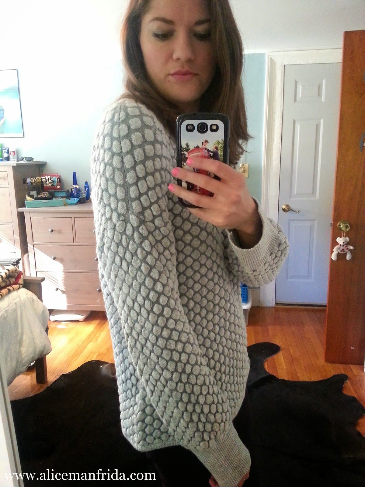 H&M, texture, knits, sweater, jumper, gray, cozy, warm, oversized