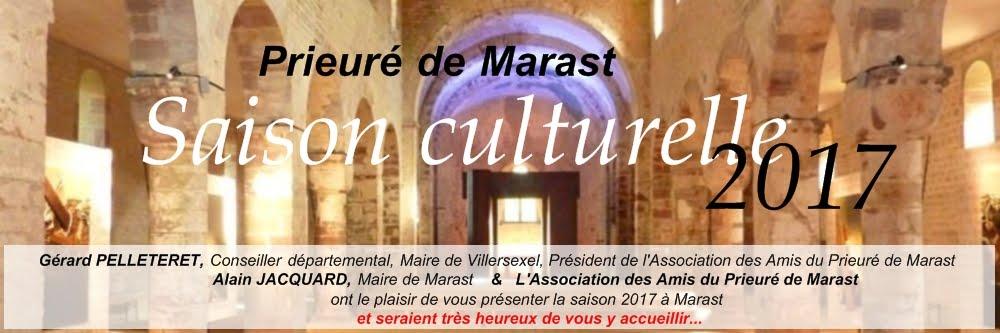 Prieuré de Marast : Saison culturelle 2017