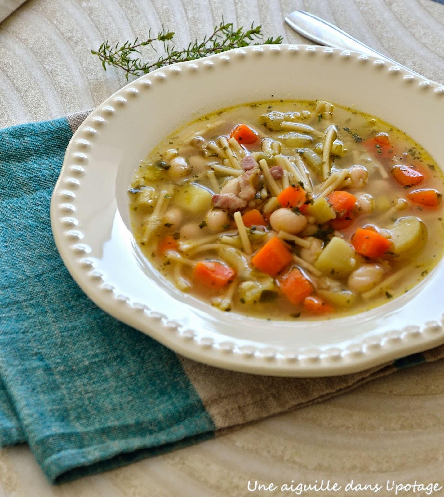 soupe légumes pâtes