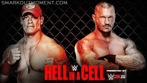 WWE Hell in a Cell 2014 ppv John Cena vs Randy Orton match